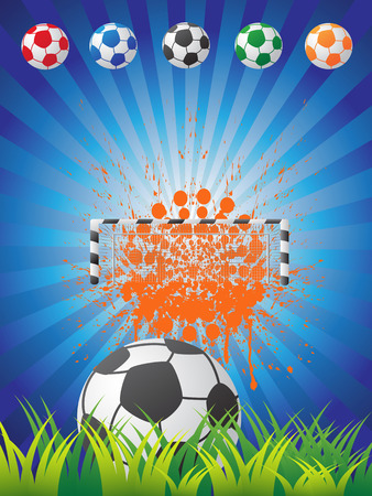 the background of soccer poster Vector