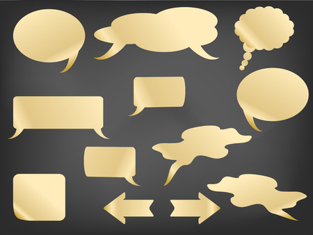 different type of speech bubbles on the  blackboard Vector