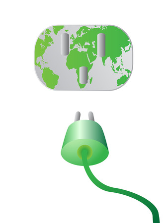 powe: the green plug into the green earth wall