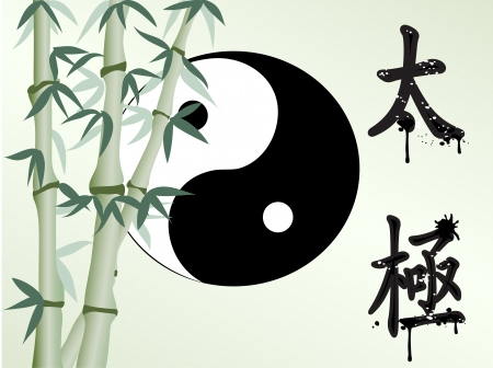 yin yang symbol: the background of zen like bamboo