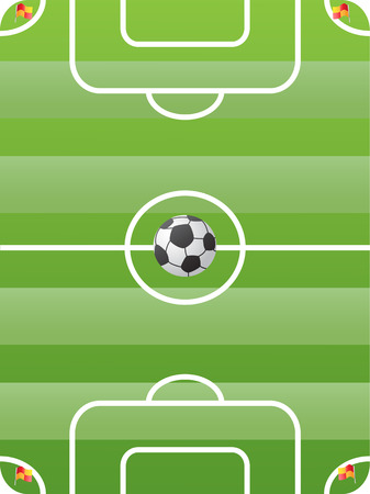 soccer field for design Vector