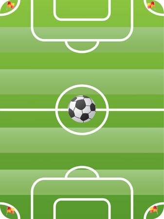 corner flag: soccer field for design Illustration