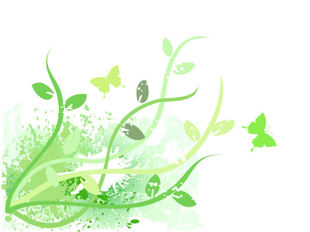 the green grunge background means spring coming Vector