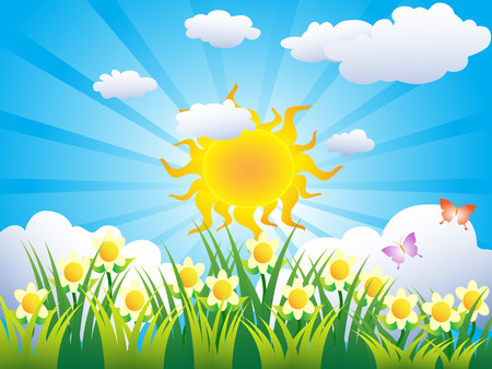beautiful sunny grass background for design Stock Vector - 7103824