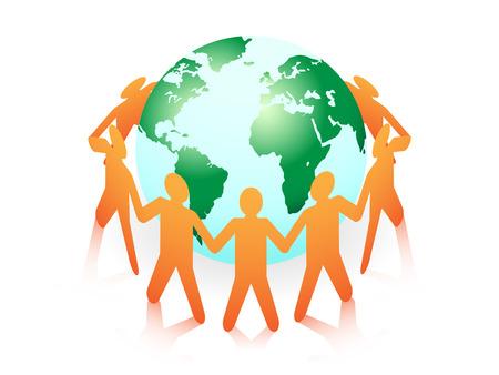 fraternidad: el concepto de familia del mundo Vectores