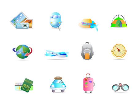travel icon set Vector
