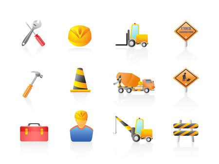 blocco stradale: alcune costruzioni icona impostata per il design Vettoriali