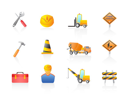 some construction Icon set for design Stock Vector - 7180268