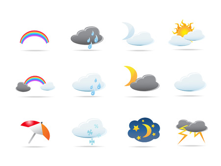 weather icons set  Stock Vector - 7180267
