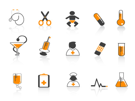some simple and standard medical icons for design Stock Vector - 7180260