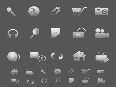 Web and Internet icons set in gray Stock Vector - 7180259