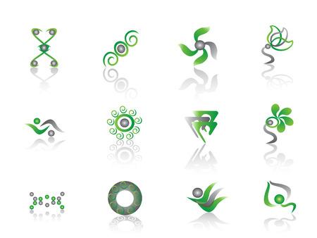 discriminate: some Green Abstract Element for design Illustration