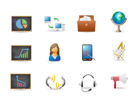 some office and business icons for design Vector