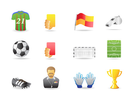 soccer icons  Stock Vector - 7180270