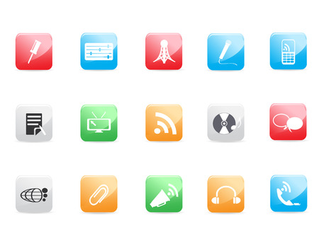 Website and Internet icons for design Vector