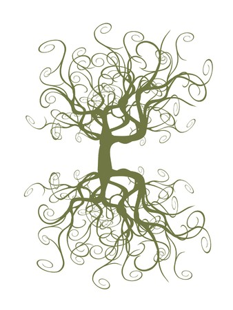abstract tangled tree for design Stock Vector - 7226482