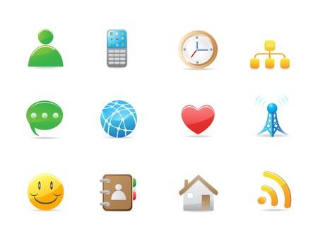 internet social icon set for design Vector