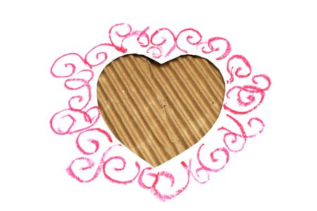 hearts shape cut from carboard for design Stock Photo - 7385598