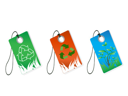 some recycling tags for design Vector