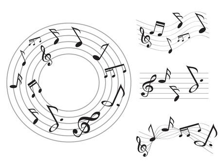디자인을위한 특별한 음악 노트