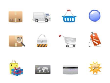 consumerism: shopping consumerism icon set for design Illustration