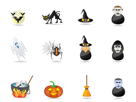 halloween icon set for design Vector