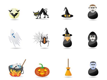 cauldron: halloween icon set for design Illustration
