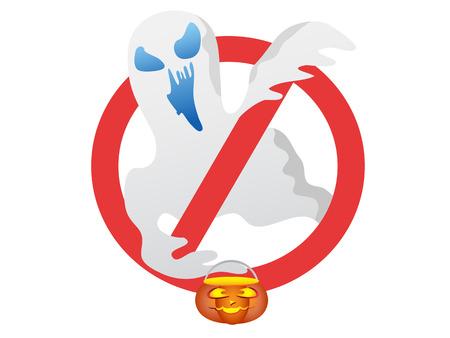 stop halloween ghost sign for Halloween design Stock Vector - 7919593