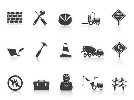 several black Construction icon for design Vector