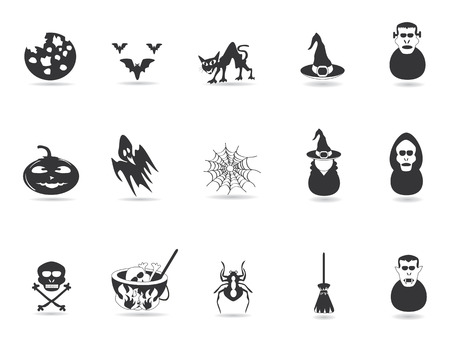 some black halloween icon for halloween design Stock Vector - 8107052