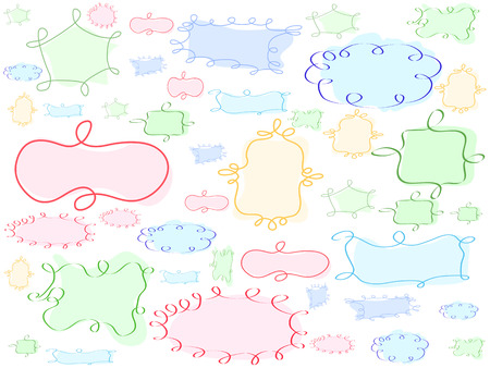 special hand-drawing frame background for design background  Vector