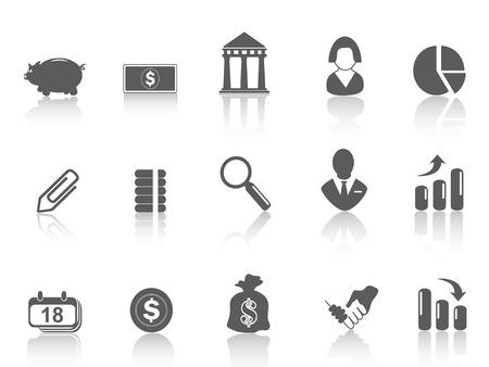 mujeres dinero: Algunos icono simple bank para dise�o web