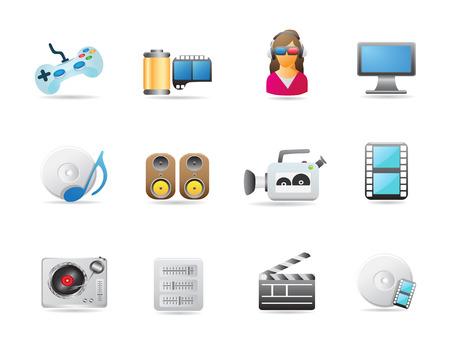 entertainment icon set for design Vector