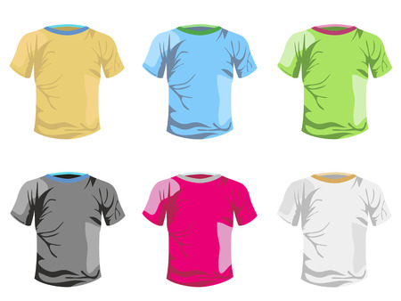 some color T-shirt template for design Stock Vector - 8388237