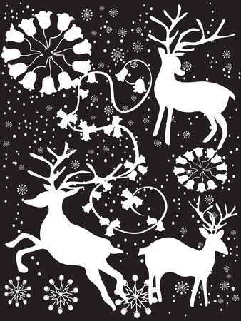 black xmas background for design Stock Vector - 8388240