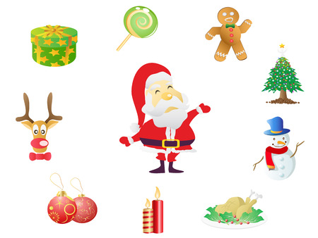 christmas icons set for design Vector