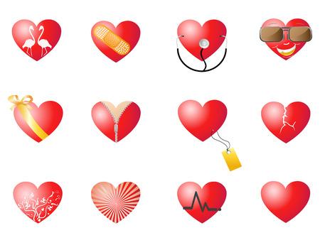 corazones amorosa para diseño de San Valentín