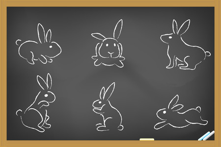 some rabbits sketch for design Vector
