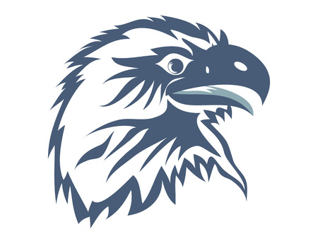 Eagle head for web design Vector