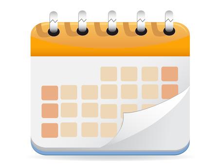 Calendario para diseño web Ilustración de vector