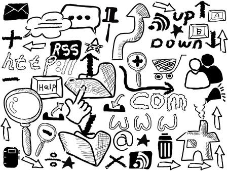doodle web elements for design Vector