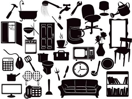 plusieurs icônes de meubles pour la conception