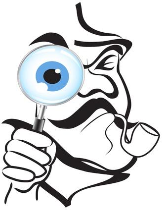 het symbool van Sherlock Holmes Vector Illustratie