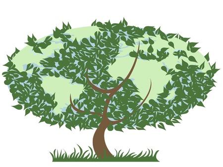 green earth tree Stock Vector - 8871103