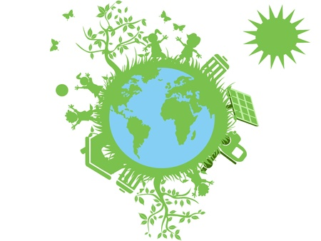 green eco globe Vector