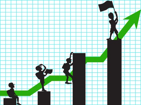 market share: the concept of climbing in business