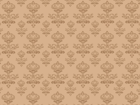 the background of brown seamless pattern -This pattern repeats on all sides. You can use it to fill your own custom shapes and backgrounds. Stock Vector - 8976201
