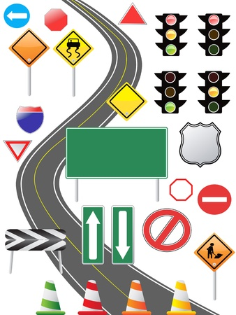 crooked: some traffic sign icon for web design