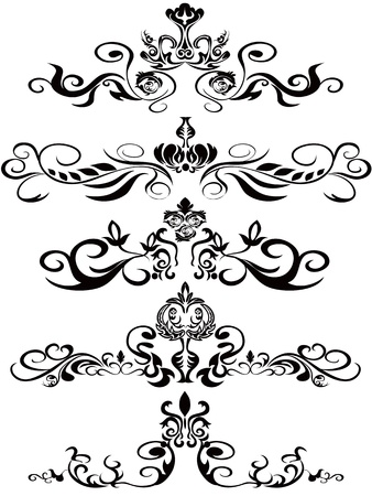 some beautiufl black ornaments for design Stock Vector - 9120592