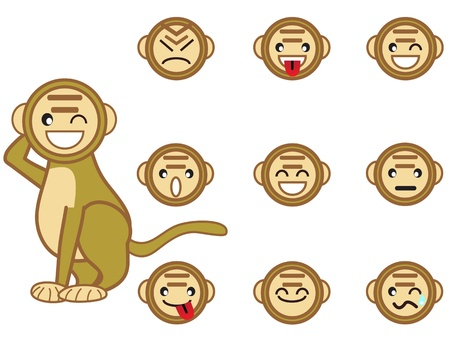 some funny monkey face for design Stock Vector - 9120591
